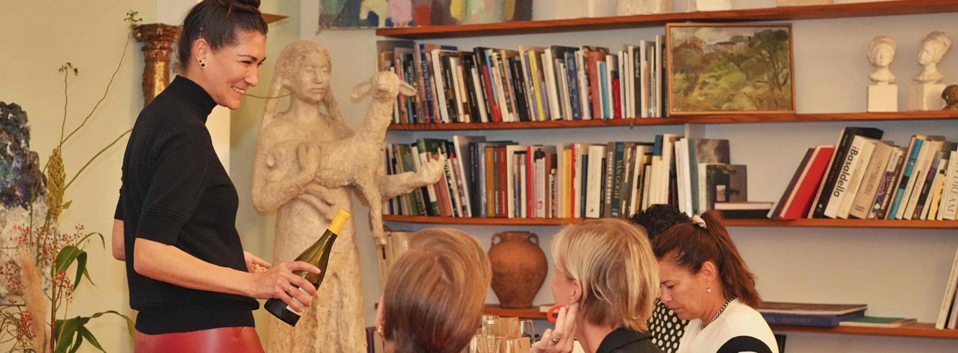 Und was kochen wir dazu? Bloggerin Shirley Amberg liefert Antworten im Seminar zu Food-Wine-Pairing.