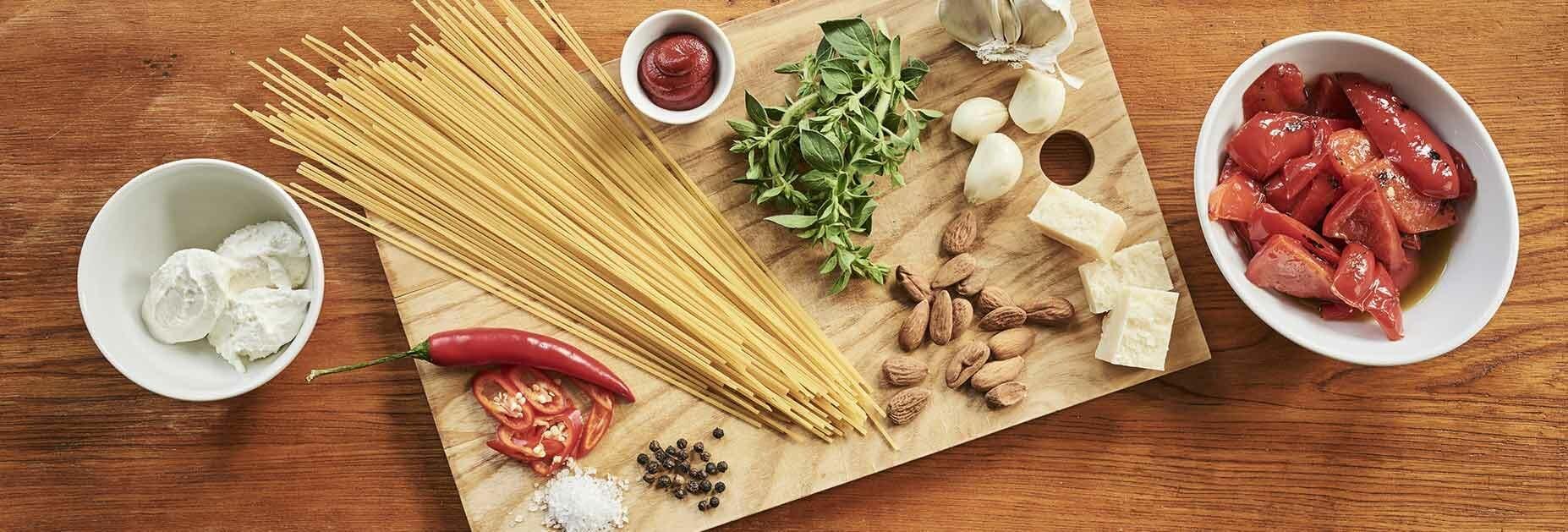 Spaghetti Pesto Calabrese