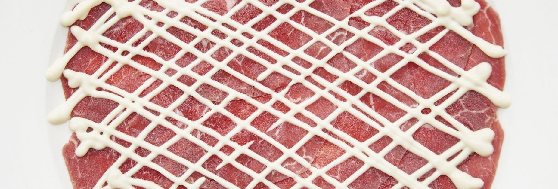 Rindfleisch wie gemalt