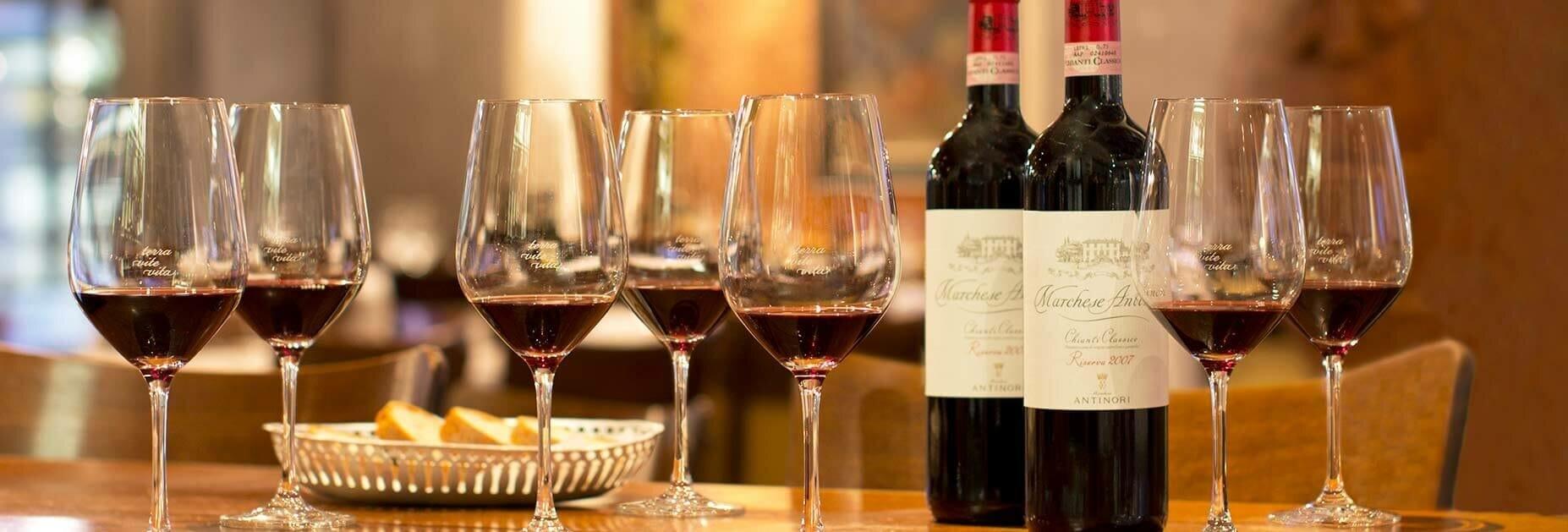 Wie viele Weingläser braucht man?