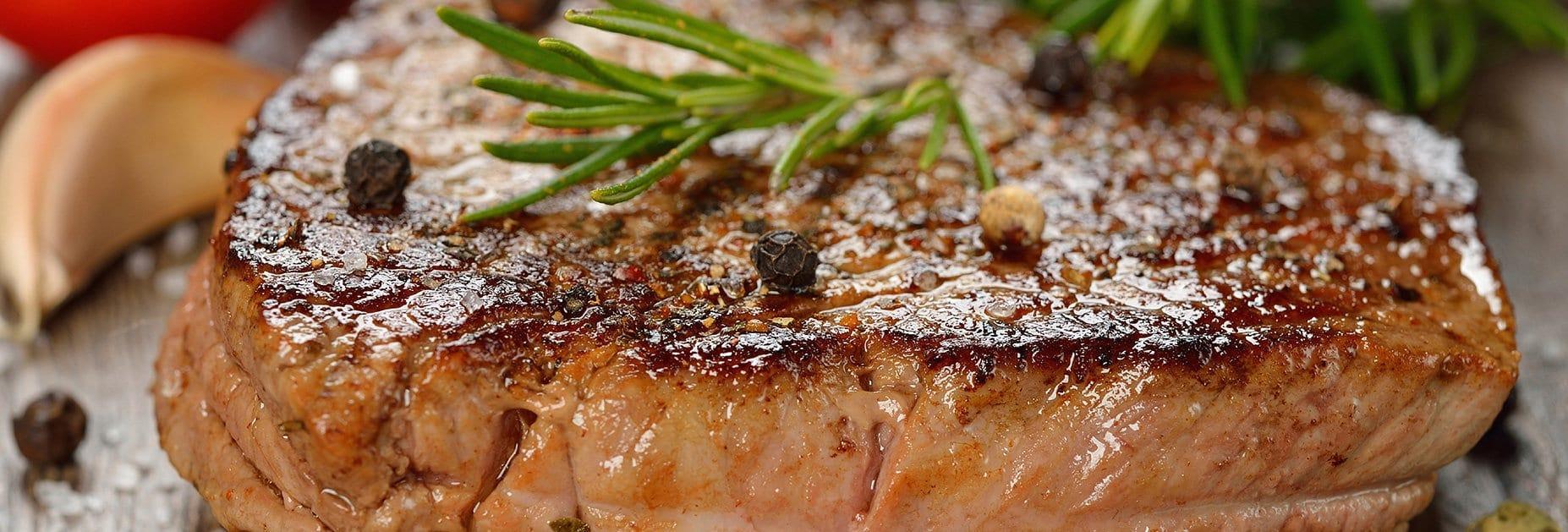 Rindfleisch und Rotwein